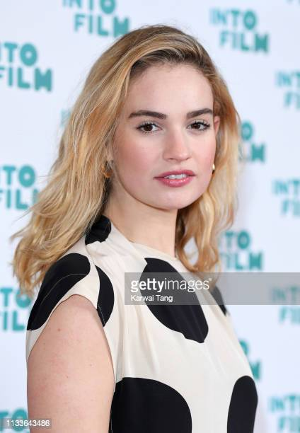 Lily James attends the Into Film Award 2019 at Odeon Luxe Leicester Square on March 04, 2019 in London, England.