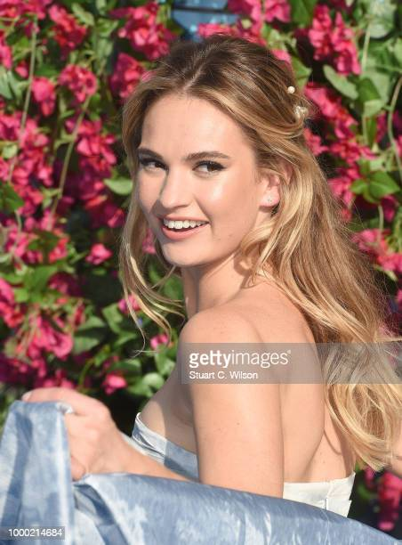 Lily James attends the Mamma Mia Here We Go Again world premiere at the Eventim Apollo Hammersmith on July 16 2018 in London England