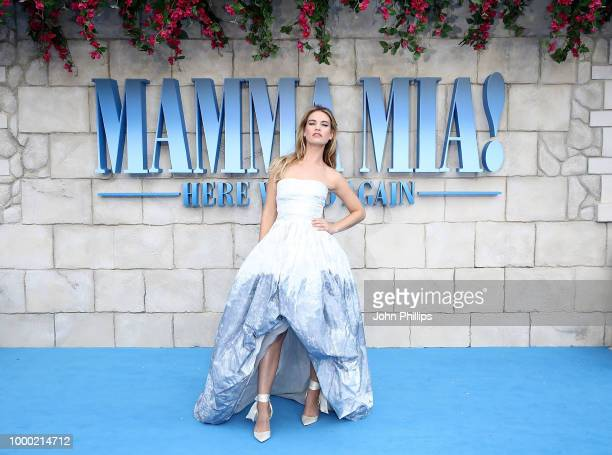 Andy Garcia and family attend the UK Premiere of 'Mamma Mia Here We Go Again' at Eventim Apollo on July 16 2018 in London England