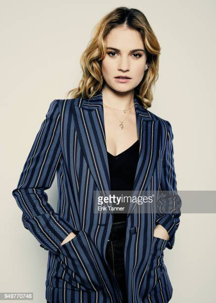 Lily James of the film Little Woods poses for a portrait during the 2018 Tribeca Film Festival at Spring Studio on April 21 2018 in New York City