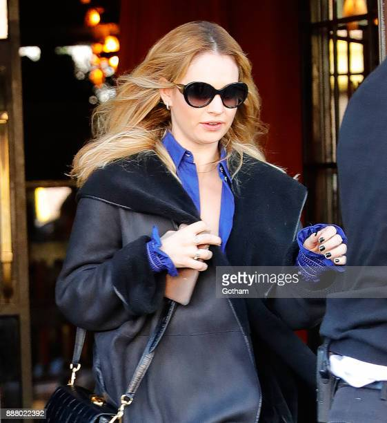 Lily James out and about on December 7 2017 in New York City