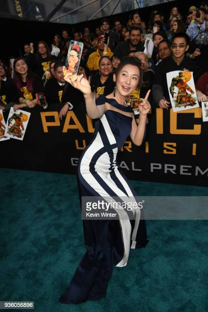 Lily Ji attends Universal's Pacific Rim Uprising premiere at TCL Chinese Theatre IMAX on March 21 2018 in Hollywood California