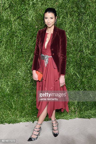 Lily Kwong attends 13th Annual CFDA/Vogue Fashion Fund Awards at Spring Studios on November 7 2016 in New York City