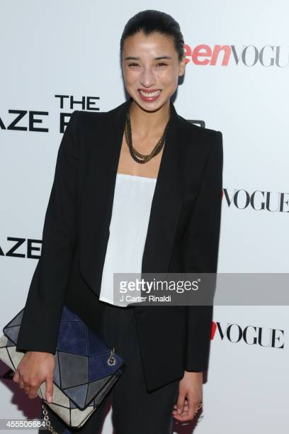 Lily Kwong attends the Maze Runner New York City screening hosted by Twentieth Century Fox and Teen Vogue at SVA Theater on September 15 2014 in New...