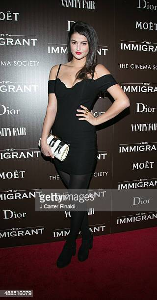 "Lily Lane attends the Dior & Vanity Fair with The Cinema Society host the premiere of The Weinstein Company's ""The Immigrant"" at The Paley Center for..."