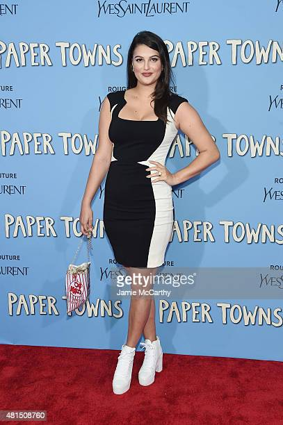 Lily Lane attends the New York premiere of Paper Towns at AMC Loews Lincoln Square on July 21 2015 in New York City