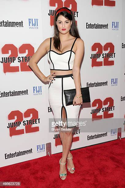 Lily Lane attends the New York screening of 22 Jump Street hosted by FIJI Water at AMC Lincoln Square Theater on June 4 2014 in New York City