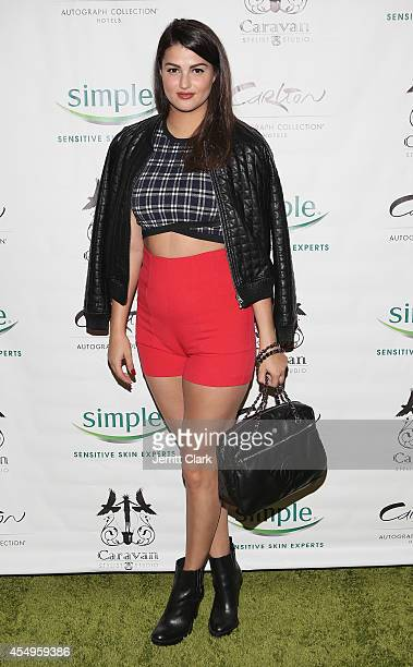 Lily Lane attends the Simple Skincare Caravan Stylist Studio Fashion Week Event on September 7 2014 in New York City