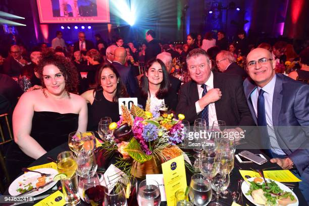 Lily Lester Tracy Stein Sofia Masotti Michael Rafter and Marco Masotti attend NYU Tisch School of the Arts GALA 2018 at Capitale on April 16 2018 in...