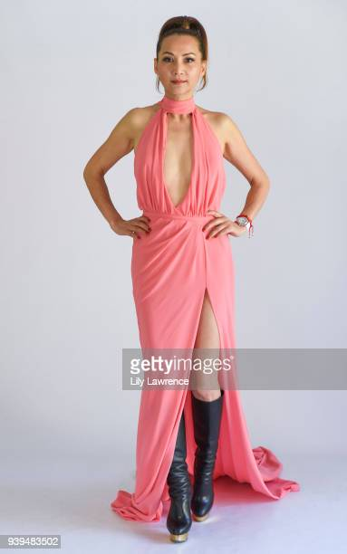 Lily Lisa wearing STELLO and Moonstar Beauty at The Artists Project Giveback Day on March 28 2018 in Los Angeles California