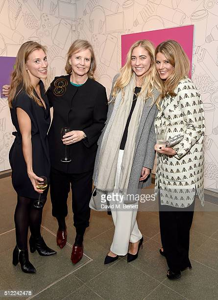Lily Lyons guest Alina Kohlem and Tarka Russell attend The Calder Prize 20052015 presented by Pace London And The Calder Foundation on February 11...