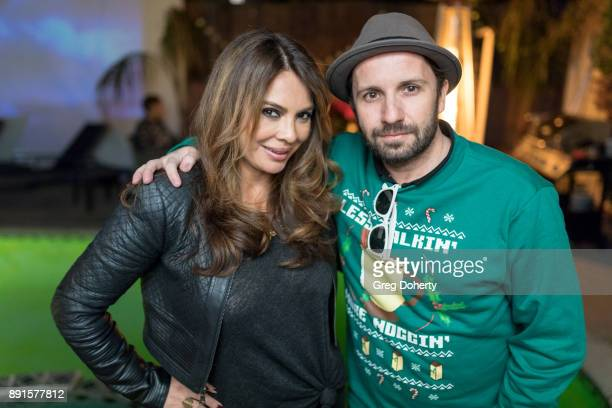 Lily Melgar and Brad Young attend The Bay Ugly Sweater And Secret Santa Christmas Party at Private Residence on December 12 2017 in Los Angeles...