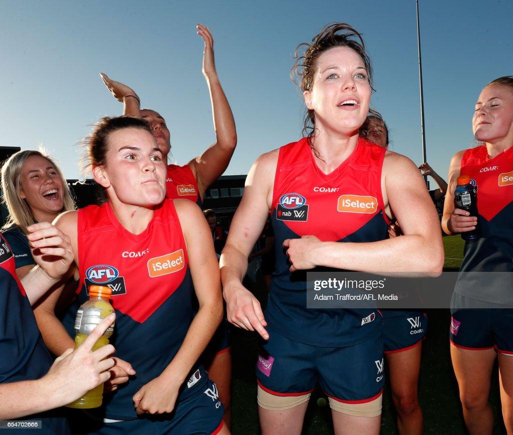 AFL Women's Rd 7 - Melbourne v Fremantle : News Photo