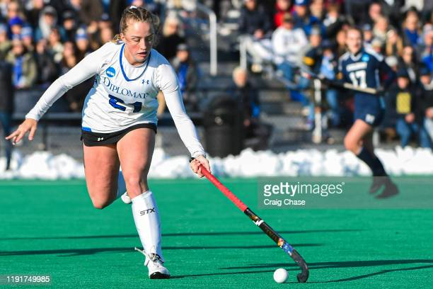 Lily Mynott of Franklin Marshall controls the ball during the Division III Women's Field Hockey Championship held at Spooky Nook Sports on November...