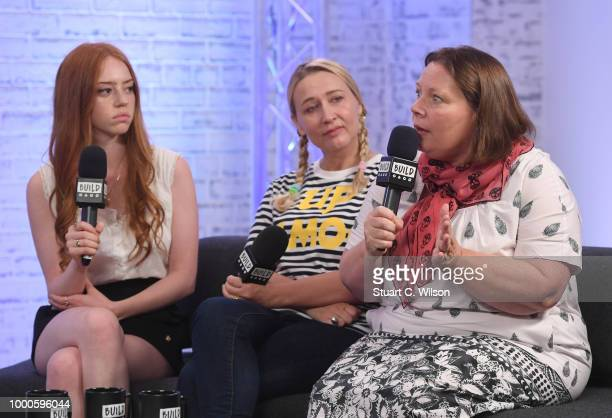 Lily Newmark Deborah Haywood and Joanna Scanlan discuss the movie 'Pin Cushion' at BUILD on July 17 2018 in London England