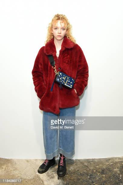Lily Nova attends the Gurls Talk x Barbie event hosted by Adwoa Aboah celebrating their collaboration at Dover Street Market on March 06 2019 in...