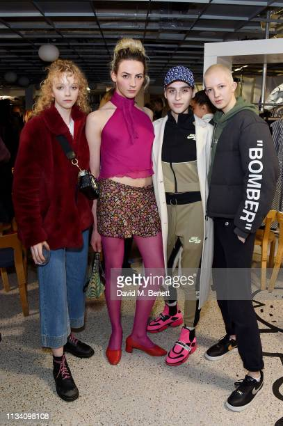 Lily Nova guest Maxim Magnus and Finn Buchanan attend the Gurls Talk x Barbie event hosted by Adwoa Aboah celebrating their collaboration at Dover...