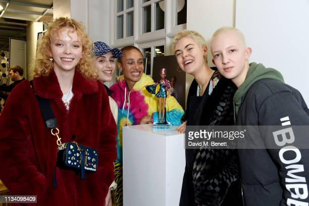 Lily Nova Maxim Magnus Adwoa Aboah Anna Rubin and Finn Buchanan attend the Gurls Talk x Barbie event hosted by Adwoa Aboah celebrating their...