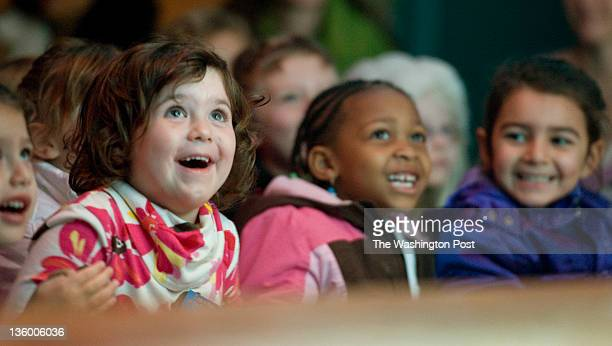 Lily O'Connor Nikki Hill 5 and Aves Hasrat watch The Nutcracker puppet show by The Puppet Company Playhouse version of The Nutcracker at Glen Echo...