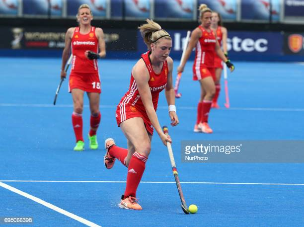Lily Owsley of England during the Investec International match between England Women and Netherlands Women at The Lee Valley Hockey and Tennis Centre...