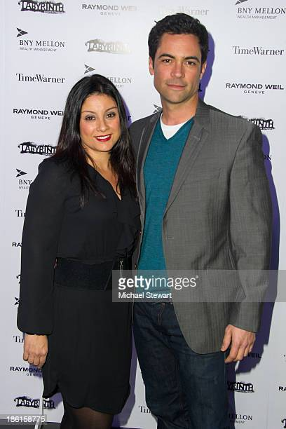 Lily Pino and actor Danny Pino attend the LAByrinth Theater Company Celebrity Charades 2013 benefit gala at Capitale on October 28 2013 in New York...