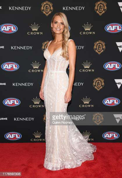 Lily Pittard arrives ahead of the 2019 Brownlow Medal at Crown Palladium on September 23 2019 in Melbourne Australia