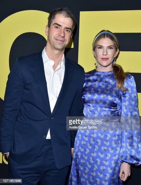 Lily Rabe and Hamish Linklater attend Annapurna Pictures Gary Sanchez Productions and Plan B Entertainment's World Premiere of 'Vice' at AMPAS Samuel...