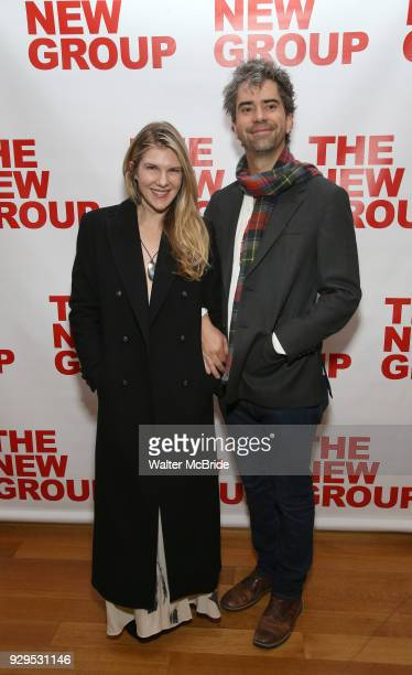 Lily Rabe and Hamish Linklater attend The New Group presents the New York Premiere Opening Night of David Rabe's for 'Good for Otto' on March 8 2018...