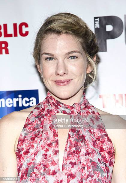 Lily Rabe at the opeing night of Cymbeline at the Delacorte Theater on August 10 2015 in New York City