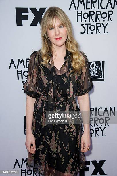 Lily Rabe attends a special screening of the movie 'American Horror Story' at Leonard H. Goldenson Theatre on April 18, 2012 in North Hollywood,...
