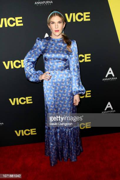 Lily Rabe attends Annapurna Pictures Gary Sanchez Productions and Plan B Entertainment's World Premiere of Vice at AMPAS Samuel Goldwyn Theater on...