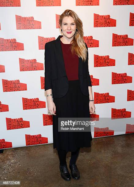 Lily Rabe attends The 20th Annual New Group Gala at Tribeca Rooftop on March 9 2015 in New York City