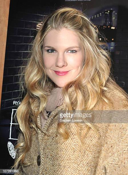 Lily Rabe attends the after party for the New York premiere of Blue Valentine hosted by Quintessentially at Boom Boom Room on December 7 2010 in New...