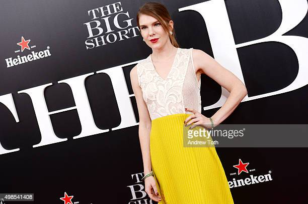 Lily Rabe attends The Big Short New York premiere at Ziegfeld Theater on November 23 2015 in New York City