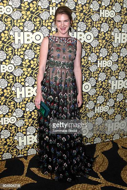 Lily Rabe attends the HBO's Post 2016 Golden Globe Awards Party held at Circa 55 Restaurant on January 10 2016 in Los Angeles California