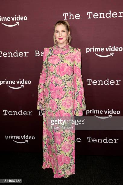"""Lily Rabe attends the Los Angeles Premiere of """"The Tender Bar"""" presented by Amazon Studios at DGA Theater Complex on October 03, 2021 in Los Angeles,..."""