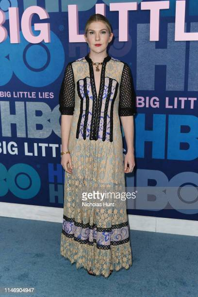 "Lily Rabe attends the season 2 premiere of ""Big Little Lies"" at Jazz at Lincoln Center on May 29, 2019 in New York City."