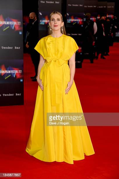 """Lily Rabe attends """"The Tender Bar"""" Premiere during the 65th BFI London Film Festival at The Royal Festival Hall on October 10, 2021 in London,..."""