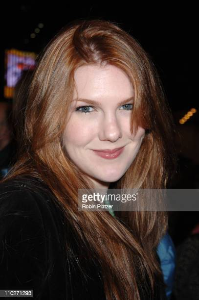 Lily Rabe during 'Festen' Broadway Opening Night Curtain Call and Departures at The Music Box Theatre in New York New York United States