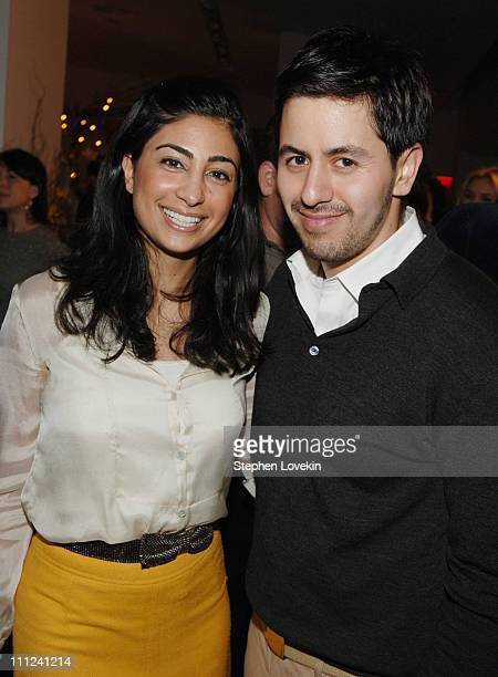 Lily Raffi and Brian Reyes during Brian Reyes Clebrates His Spring 2006 Collection Hosted by Maurice Villency at Maurice Villency Showroom in New...