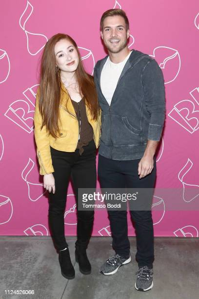 Lily Rose and Jordan Kimball attend Jordan Kimball Puts A Sweet Spin On Valentine's Day With BaskinRobbins at Kim Sing Theatre on February 12 2019 in...