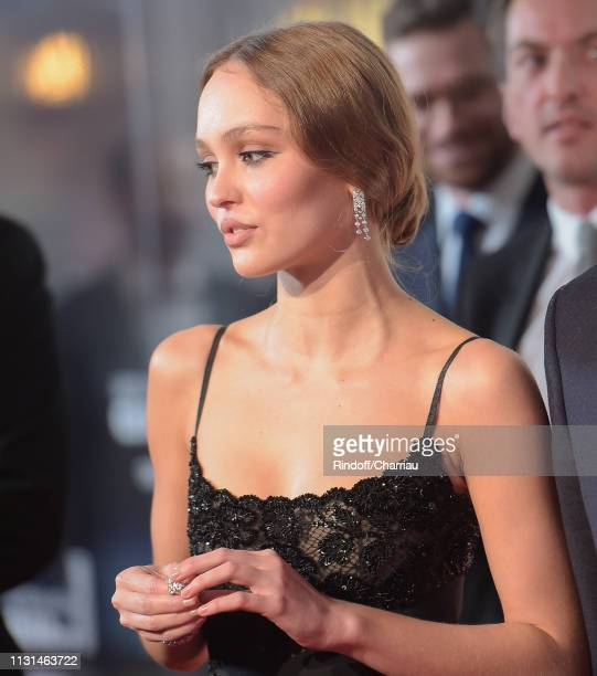 Lily Rose Deep attends the Red Carpet Arrivals Cesar Film Awards 2019 at Salle Pleyel on February 22 2019 in Paris France