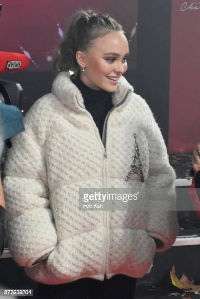 Lily Rose Depp attends Christmas Lights Launch On The Champs Elysees on November 22 2017 in Paris France