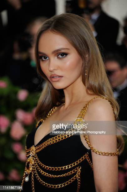 Lily Rose Depp attends The 2019 Met Gala Celebrating Camp Notes On Fashion Arrivalsat The Metropolitan Museum of Art on May 6 2019 in New York City