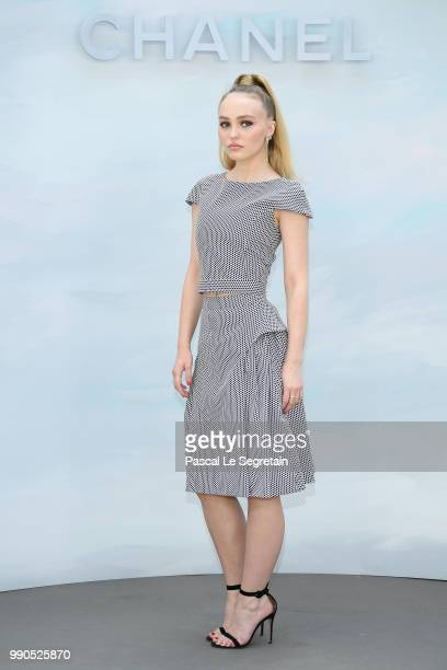 Lily Rose Depp attends the Chanel Haute Couture Fall Winter 2018/2019 show as part of Paris Fashion Week on July 3 2018 in Paris France