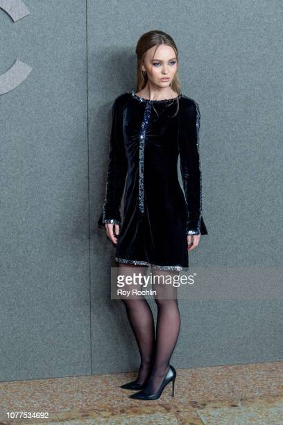 Lily Rose Depp attends the Chanel Metiers D'Art 2018/19 Show at The Metropolitan Museum of Art on December 04 2018 in New York City