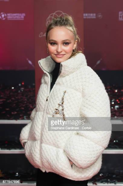Lily Rose Depp attends the Christmas Lights Launch On The Champs Elysees on November 22 2017 in Paris France