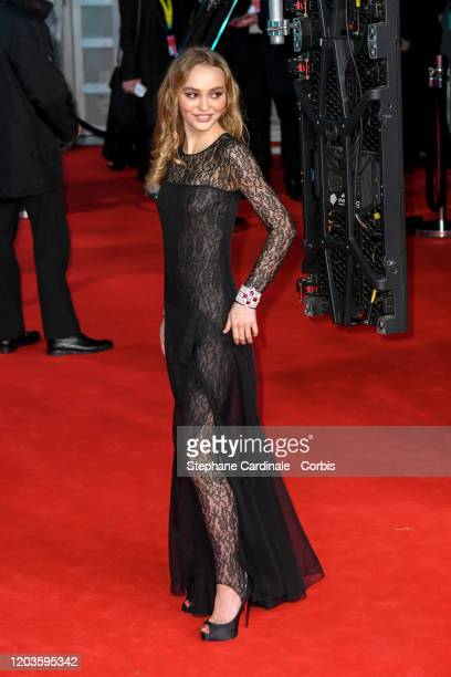 Lily Rose Depp attends the EE British Academy Film Awards 2020 at Royal Albert Hall on February 02 2020 in London England