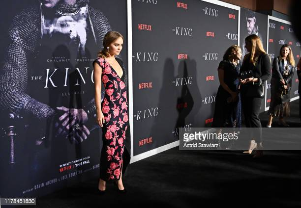 """Lily - Rose Depp attends """"The King"""" New York Premiere at SVA Theater on October 01, 2019 in New York City."""