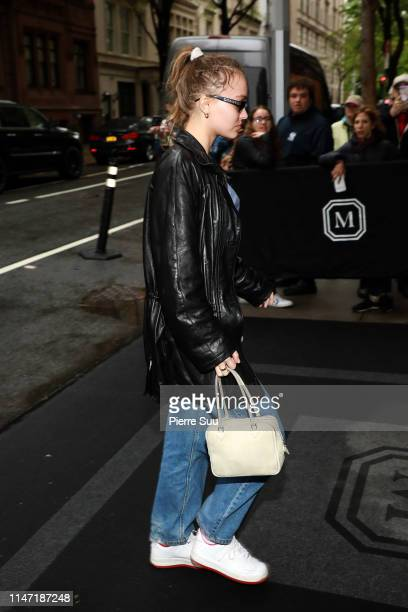 Lily Rose Depp is seen at the Mark Hotel on May 05 2019 in New York City